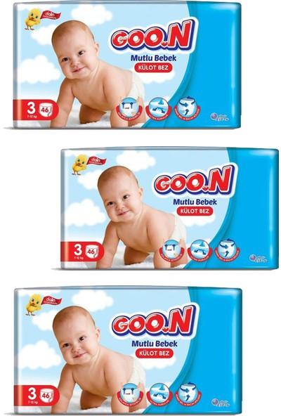 Goon Mutlu Bebek Külot Bezi 3 Beden 46'lı 3 Paket