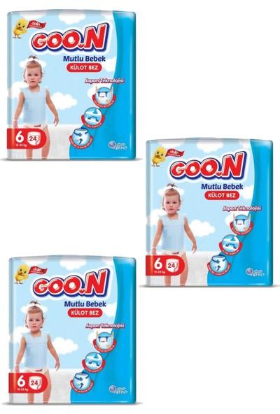Goon Mutlu Bebek Külot Bezi 6 Beden 24'lü 3 Paket