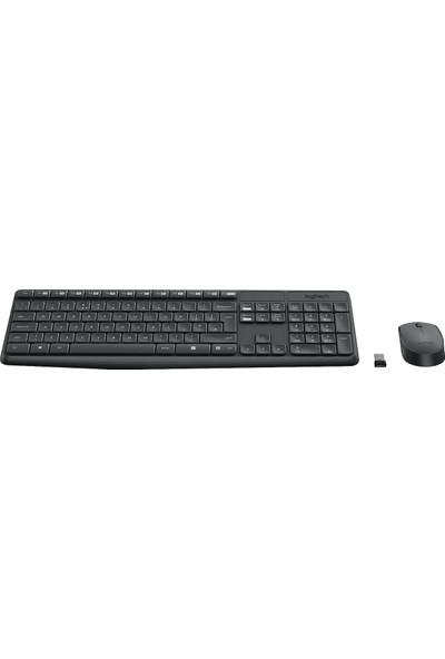 Logitech MK235 Kablosuz Klavye & Mouse Seti-Gri