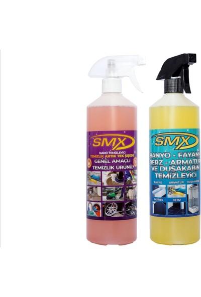 Smx Nano ve Smx Inox Çok Amaçlı Genel Temizlik Spreyi 2li Set