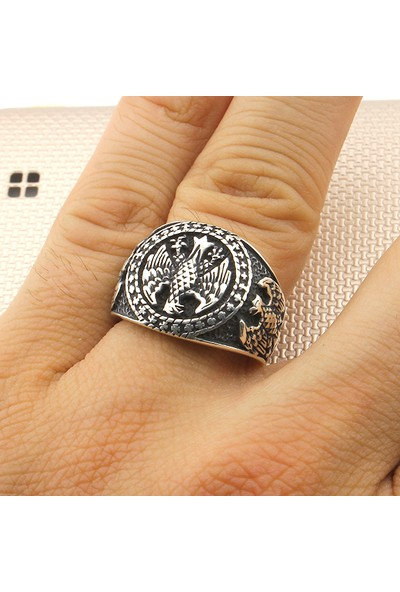 Prestige Gümüş Erkek Yüzük Kartal