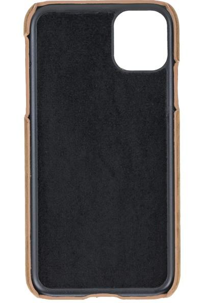 Burkley Apple iPhone 11 G2 Kahverengi Ultimate Jacket Deri Telefon Kılıfı