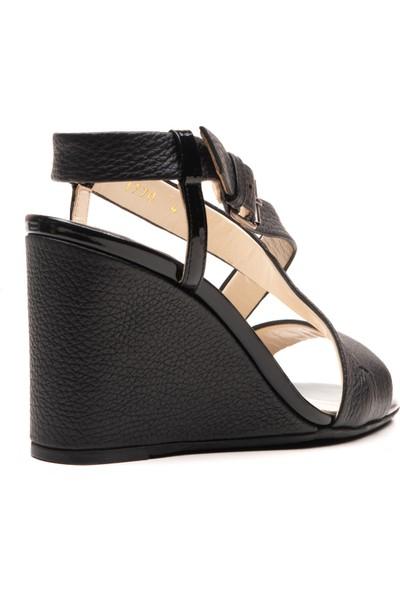 Joop Deri Dolgu Topuk Sandalet Ayakkabı JOOP-770