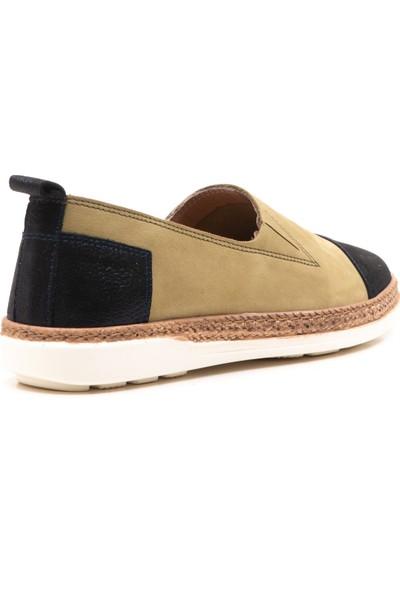 Wave Deri Espadril Çift Renk Ayakkabı WV-MB9506