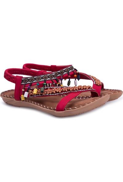 Le Ville Boncuk Detaylı Sandalet Kız Çocuk Sandalet 38920Y1531