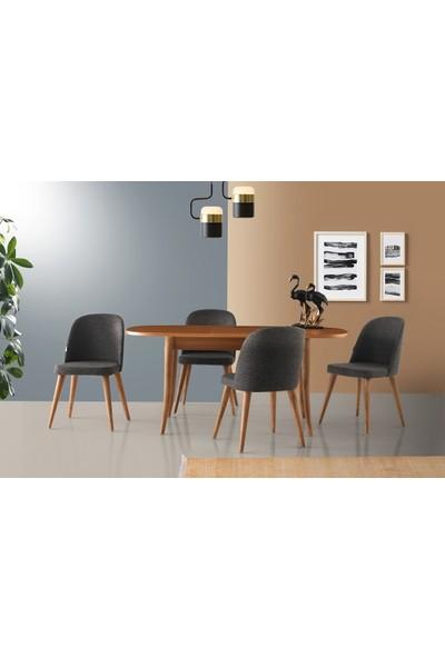 VRL Sorite Oval Masa Tuna Sandalye Takımı