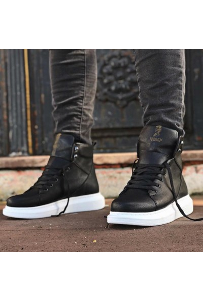 Knack Yüksek Taban Ayakkabı B-080 Siyah