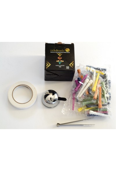 Akdise Nargile Paket 1 kg Nargile Kömürü-Kalem Sipsi-Lotus Közlük-Bant-Maşa