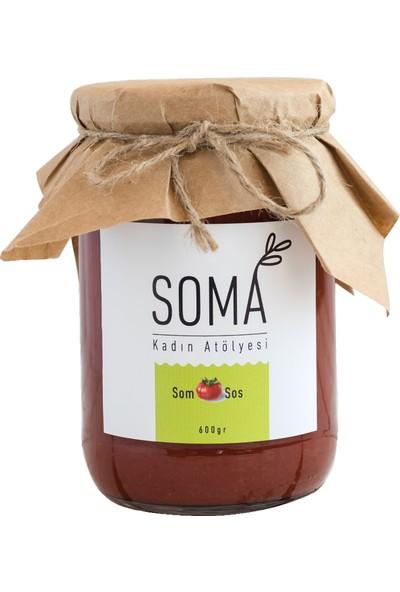 Soma Kadın Atölyesi Kahvaltılık Somsos Domates Sosu Katkısız Ev Yapımı (Ege Usulü Kaynatılmış) 600 gr