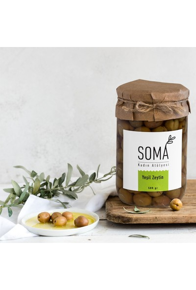 Soma Kadın Atölyesi Yeşil Zeytin Boyasız Katkısız - 500 gr