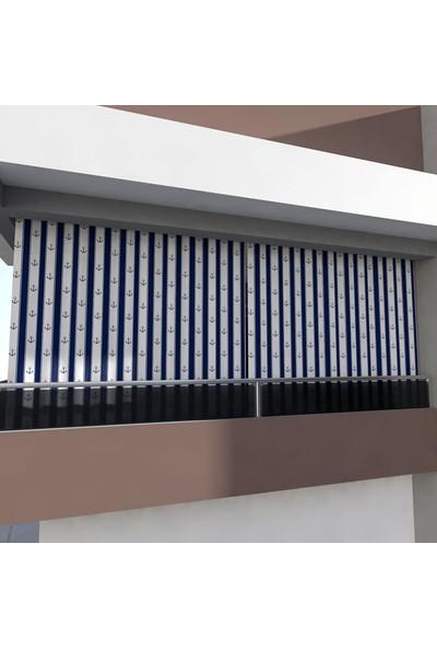 Hupim Çapalı Balkon Perdesi Balkon Brandası Metal Kuşgözü Kapsüllü Balkonperde
