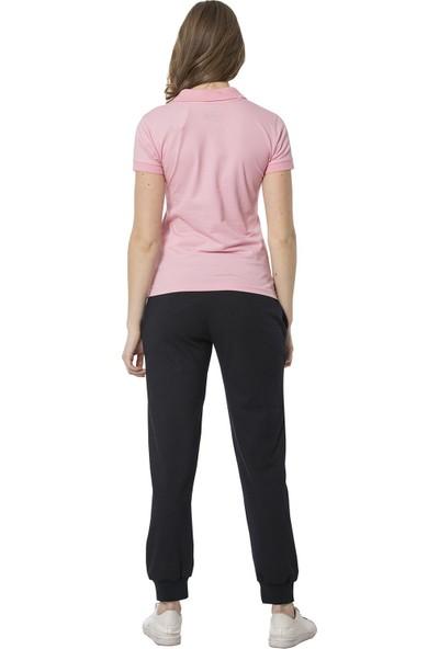 Crozwise Polyester Yağmur Desen Dar Paça Kadın Pantolon
