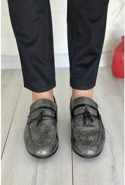 Conpax 118 Füme Rugan Erkek Casual Ayakkabı