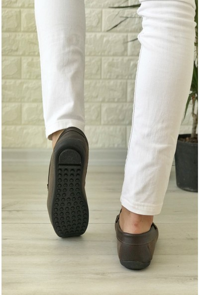 Conpax 125 Kahverengi Süet Loafer Erkek Ayakkabı