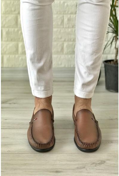 Conpax 125 Taba Cilt Loafer Erkek Ayakkabı