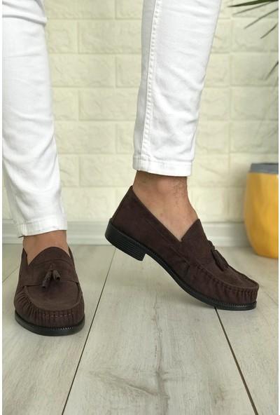 Conpax 445 Kahverengi Süet Kolej Corcik Erkek Ayakkabı