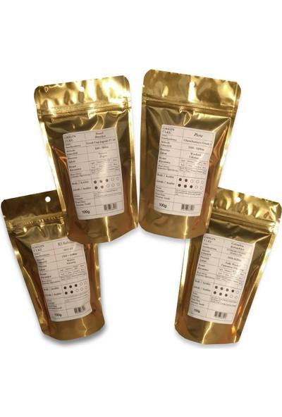 Profusion Coffee Taze Kavrulmuş Güney ve Orta Amerika Çekirdek Kahvesi 100 gr x 4'li