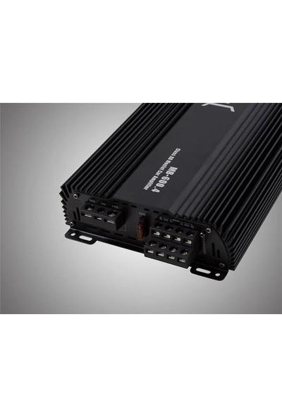 Mobass MB-600 2500W 4 Kanal Bass Kontrollü Oto Amfi