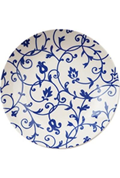 Tulû Porselen Kobalt Kombin 24 Parça Porselen Yemek Takımı