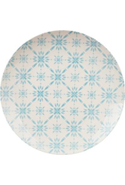 Tulû Porselen Trend Turkuaz Kombin 24 Parça Porselen Yemek Takımı