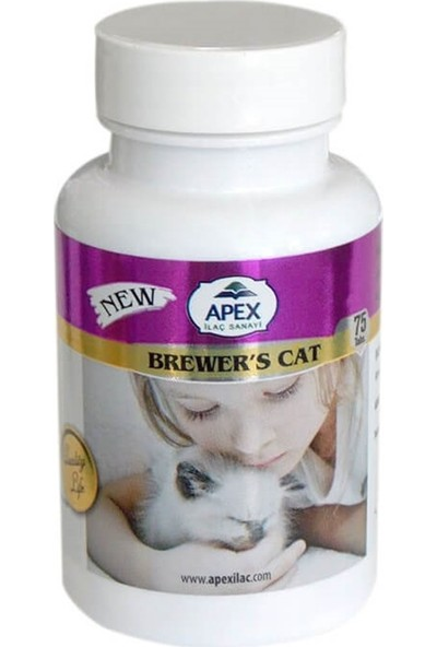 Apex Brewers Kedi Deri Tüy Bakım Katkısı 75 Tablet
