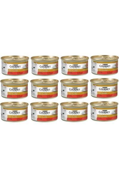 Gourmet Gold Kıyılmış Sığır Etli Kedi Konservesi 85GR x 12 Adet