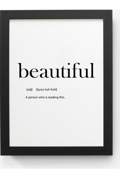 Value Design Beautiful Duvar Tablosu