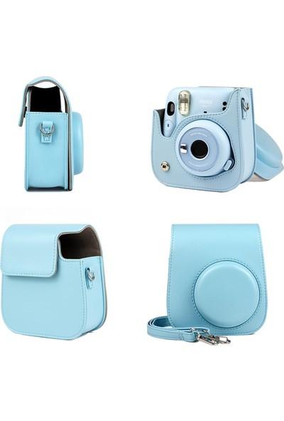 Trendfone Fujifilm Instax Mini 11 Çanta Kılıf-3 Farklı Renk Taşıma Askısıyla Birlikte