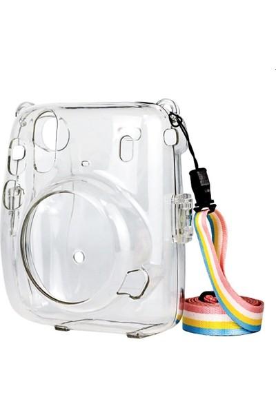 Trendfone Fujifilm Instax Mini 11 Şeffaf Kılıf-Koruyucu Sert Plastik