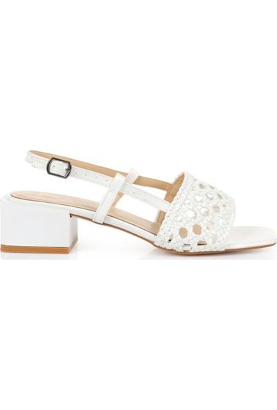 Oblavion Kadın Amanda Beyaz Topuklu Ayakkabı