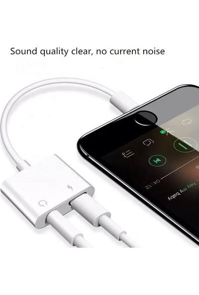 Capin Apple İphone Şarj ve Kulaklık Dönüştürücü Bluetoothlu Aparat iPhone 7 7plus 8 8plus X Xr Xs Xs Max