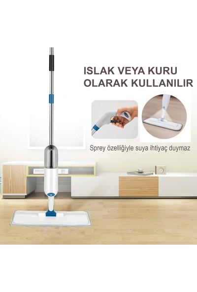 Turuncu Koli Sprey Mop Deterjan Hazneli Paspas + Yedek Bez