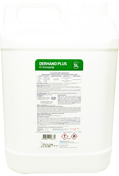 Ecolab Derhand Plus Dezenfektan 5 Lt + Duvar Aparatı