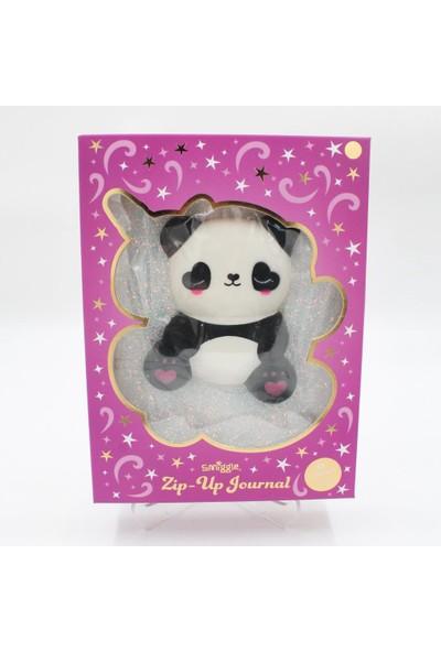 Hediye Deposu Beyaz Panda Squishy Simli Kendi Kutusunda Kabartmalı Sukuşi
