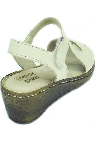 Trendy 100100120 Deri Sandalet