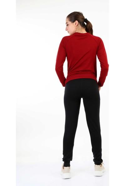 Longer Bordo Sportif Kadın Eşofman Takımı