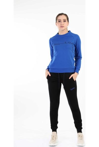 Longer Mavi Sportif Kadın Eşofman Takımı