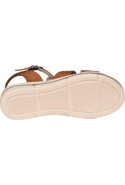 Byn Ayışığı 8536 Kahve Yazlık Kadın Düz Sandalet Ayakkabı