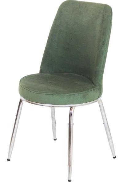 Kaykolsan Tay Tüyü Kumas Metal Ayak Mutfak Sandalyesi