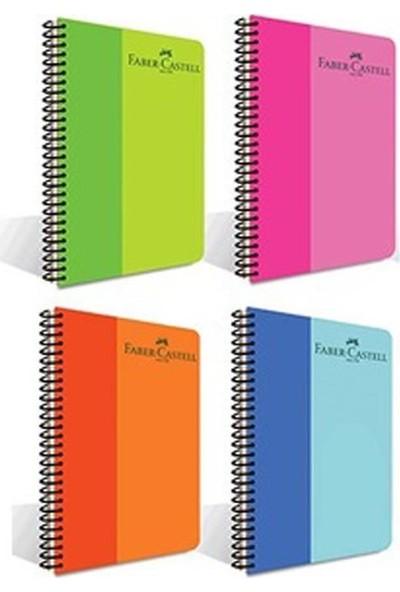Faber-Castell Bicolor A4 Spiralli Plastik Kapak Defter Kareli 80 Yaprak 5075000128 (4'lü Paket)