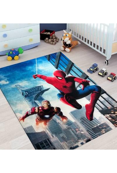 Carpet Home Örümcek Adam Figürlü Kaymaz Taban Çocuk Halısı 120X180