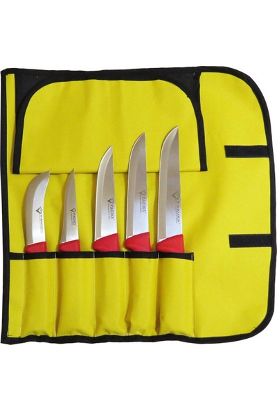 Paroks Kurban Bıçak - Kasap Bıçak Seti Taşıma Çantalı 5'li Set-2