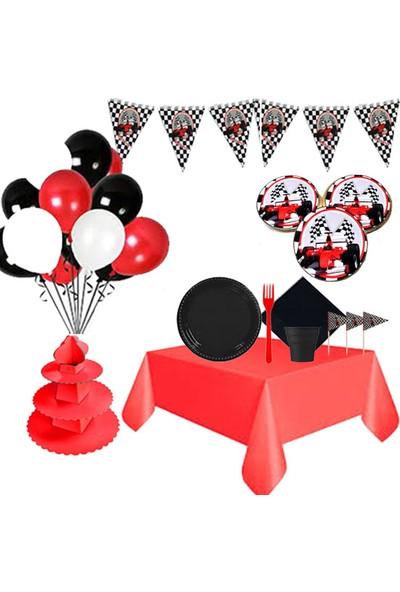 Partylandtr Yarış Arabası Butik Kurabiyeli Doğum Günü Parti Seti 16 Kişilik