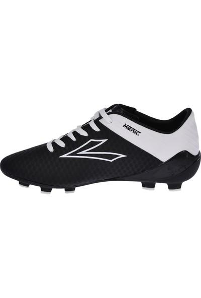 Lig Meriç Km Çim Saha Erkek Spor Futbol Ayakkabısı Siyah-Beyaz