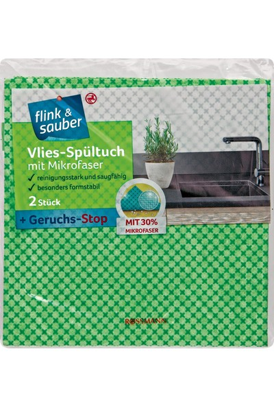 Flink & Sauber Mikrofiber Kumaş Temizlik Bezi 35x35 cm 2 Adet