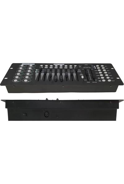 Quenlite DMX-192 Işık Kontrol Mikseri Masası 16 Kanal