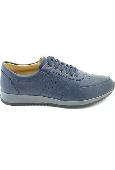 Man Blue Lacivert Casual Erkek Deri Spor Günlük Ayakkabı