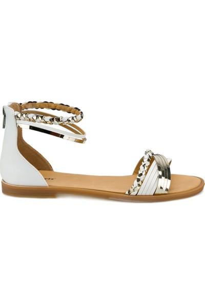 Polaris 315315.Z Beyaz Kadın Sandalet