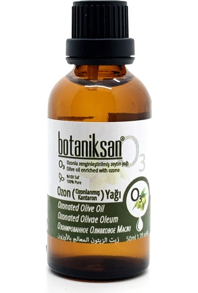 Botaniksan Ozon Yağı 50 ml (Ozonlanmış Zeyin Yağı) Saf Katkısız