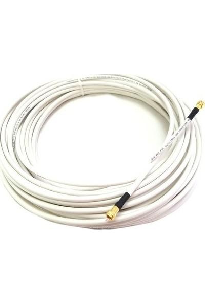 Baff Rg7 Gold F Konnektörlü Hazır Uydu Anten Kablosu - 95m